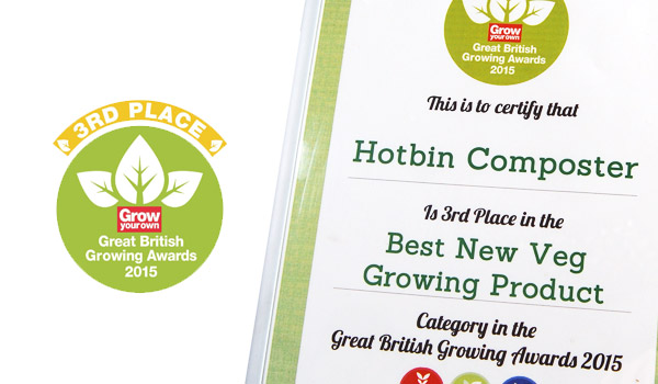 HotBin Composting Secured Great British Growing Awards