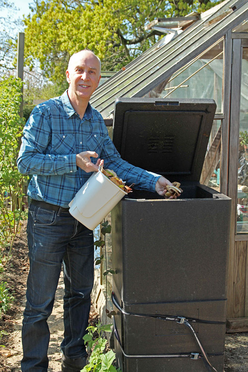 Adam Pasco with his HOTBIN Compost in