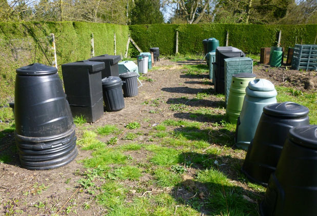 Composting Demonstration Area at the University of Leicester Botanic Garden