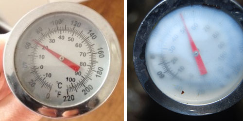 What to do with a steamed-up HOTBIN Thermometer